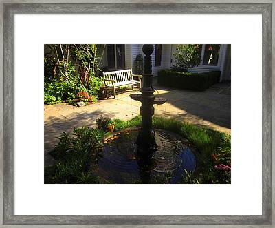 The Fountain Framed Print by Peter LaPlaca