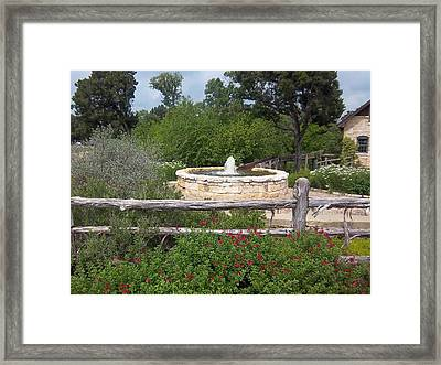 The Fountain Framed Print by Rosalie Klidies