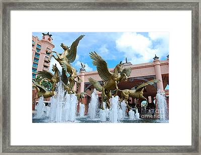 The Fountains At Atlantis Framed Print