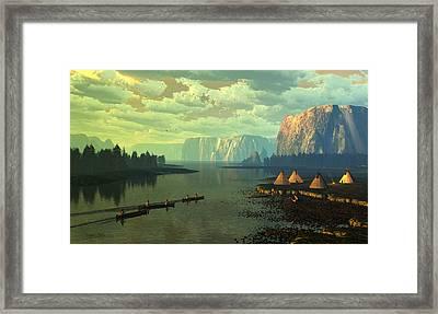 The Fountains Of Eden Framed Print by Dieter Carlton