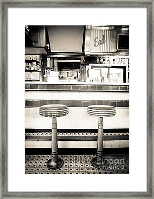 The Four Aces Diner Framed Print