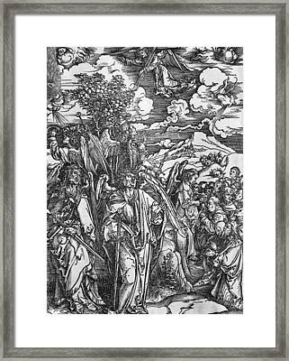 The Four Angels Holding The Winds Framed Print by Albrecht Durer or Duerer