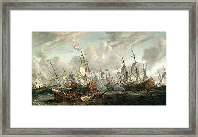 The Four Days Battle, June 1666 Framed Print by Abraham Storck
