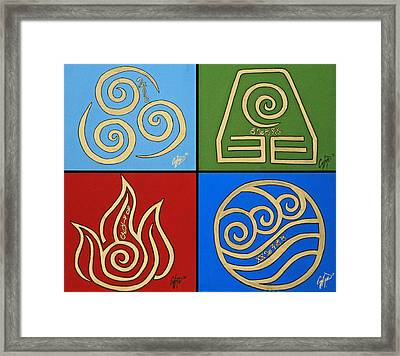 The Four Elements In Cy Lantyca Framed Print