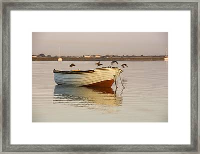Framed Print featuring the photograph The Four Flying Boatmen by Trevor Chriss