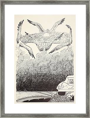 The Four Gull-winged Djinns Lifting Framed Print