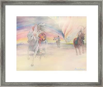 The Four Horsemen Approaching Framed Print