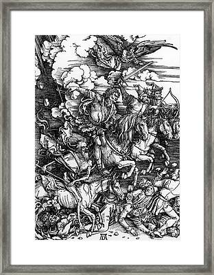 The Four Horsemen Of The Apocalypse Framed Print by Albrecht Durer