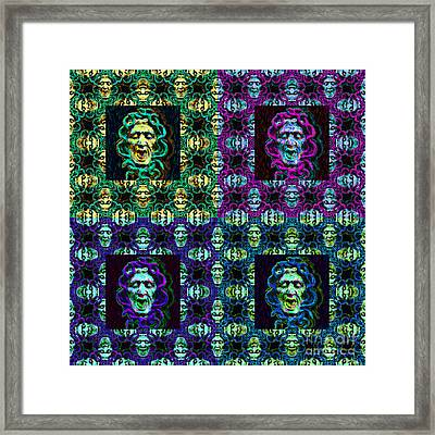 The Four Medusas 20130131 Framed Print by Wingsdomain Art and Photography