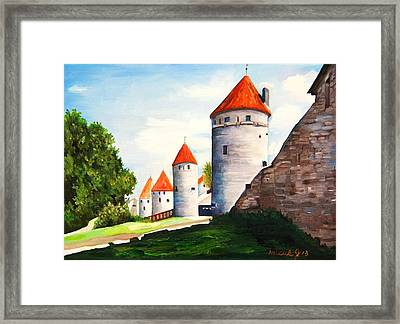 The Four Old Towers Estonia Framed Print