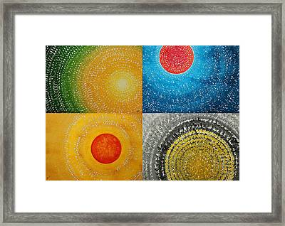 The Four Seasons Collage Framed Print