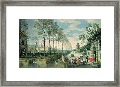 The Four Seasons Spring  Framed Print by Sebastian Vrancx