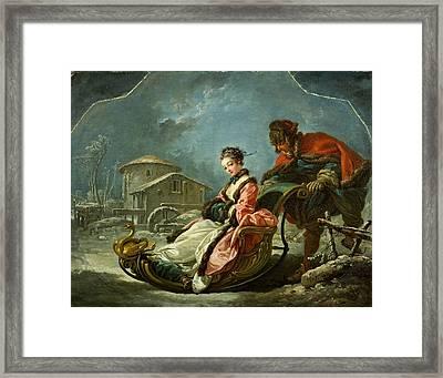 The Four Seasons. Winter Framed Print by Francois Boucher