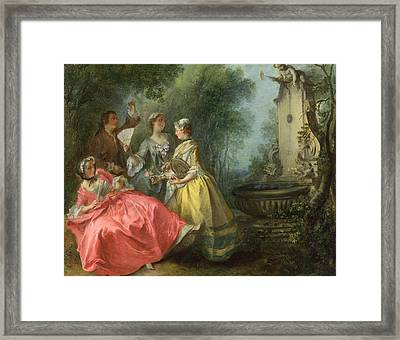 The Four Times Of Day. Midday Framed Print by Nicolas Lancret