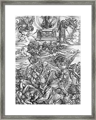 The Four Vengeful Angels Framed Print by Albrecht Durer or Duerer