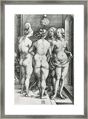The Four Witches Framed Print by Albrecht Durer or Duerer