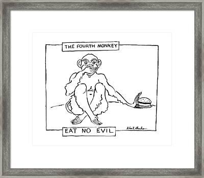 The Fourth Monkey Framed Print