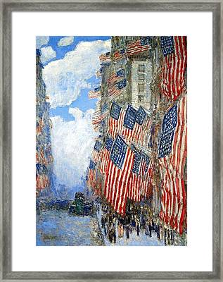 The Fourth Of July Framed Print by Frederick Childe Hassam