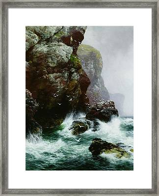 The Fowlers Crag Framed Print by Peter Graham