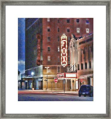 The Fox After The Show Framed Print