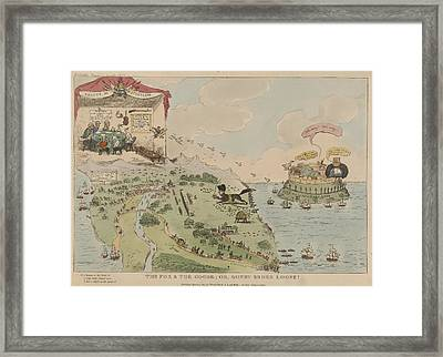 The Fox And The Goose Framed Print by British Library