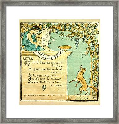 The Fox And The Grapes Framed Print by English School