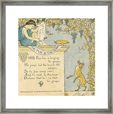 The Fox And The Grapes Framed Print by Pg Reproductions
