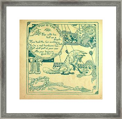 The Fox And The Mask Framed Print by English School