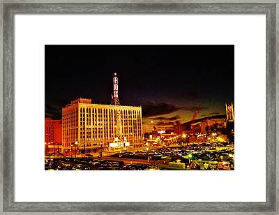 The Fox At Sunset Framed Print by Daniel Thompson