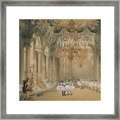The Foyer Of The Opera During The Interval Framed Print by French School