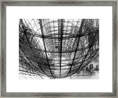 The Frame Of The Hindenburg Framed Print by Underwood Archives