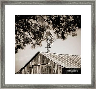 The Framed Windmill Framed Print by Amber Kresge