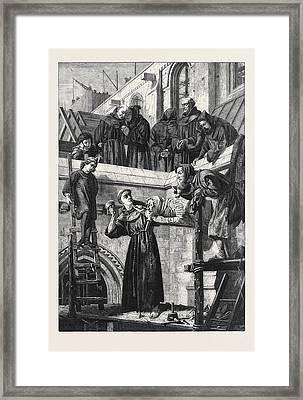 The Franciscan Sculptor Framed Print