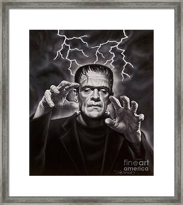 The Frankenstein Monster Framed Print by Dick Bobnick