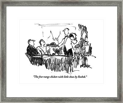 The Free-range Chicken With Little Shoes Framed Print