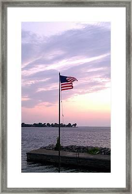 The Freedom Flag Framed Print by Dawn Koepp