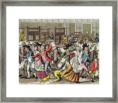 The Freedom Of The Press, 1797 Coloured Engraving Framed Print by French School