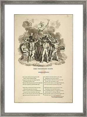 The Freeman's Oath Framed Print