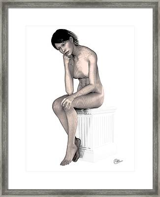 The Freethinking Girl Framed Print by Quim Abella
