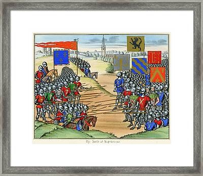 The French Defeat The Flemish Framed Print by Mary Evans Picture Library