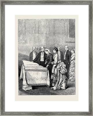 The French Deputation To The Queen At Windsor Castle Framed Print by English School