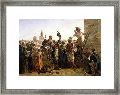 The French In Cairo In 1800, 1884 Framed Print by Walter Charles Horsley