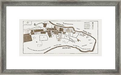 The French In Madagascar, Plan Of Tamatave Framed Print
