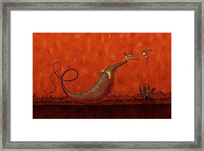 The Friendly Dragon Framed Print