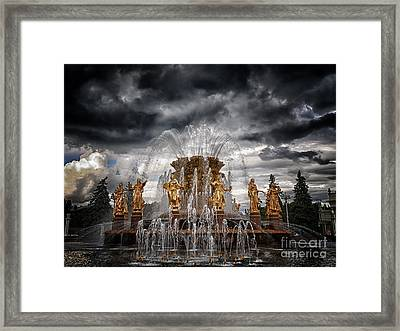 The Friendship Fountain Moscow Framed Print