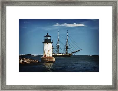 The Friendship Returns To Salem Harbor Framed Print