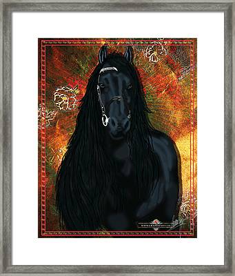 The Friesian Framed Print by Graphicsite Luzern