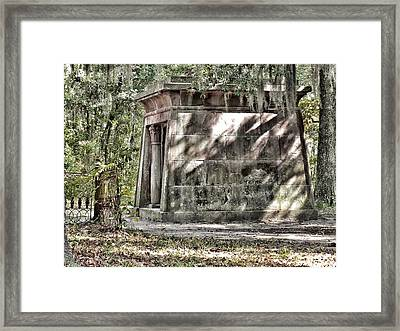 The Fripp Crypt Framed Print by Patricia Greer