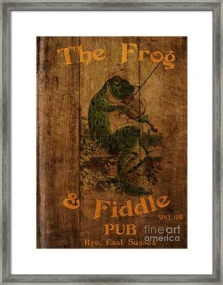 The Frog And Fiddle Pub Framed Print by Cinema Photography
