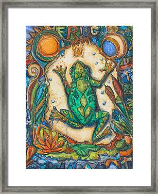 The Frog Prince   Children Of The Earth Series Framed Print by Patricia Allingham Carlson
